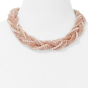 FAUX-PEARL & BEADED TORSADE NECKLACE